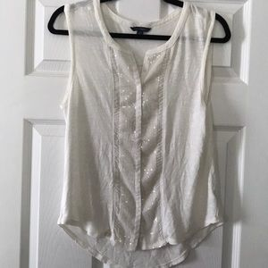 American Eagle Sequin Tank Top Size Large L